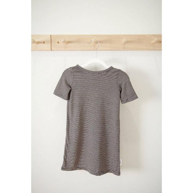 22b52b00b545 Kids : T-shirt dress in black & white pinstripe